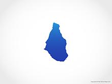 Map of Montserrat - Blue