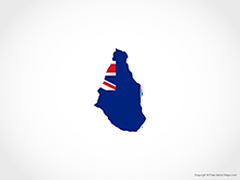 Map of Montserrat - Flag
