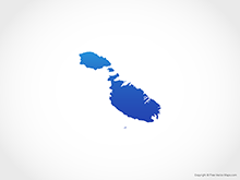 Map of Malta - Blue