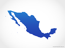 Map of Mexico - Blue