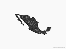 Map of Mexico - Stamp