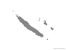 Map of New Caledonia with Provinces - Single Color