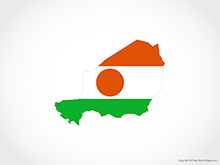Map of Niger - Flag