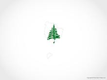 Map of Norfolk Island - Flag