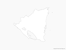 Map of Nicaragua - Outline