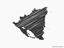 Map of Nicaragua - Sketch