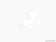 Map of Netherlands - Outline