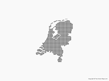 Map of Netherlands - Dots