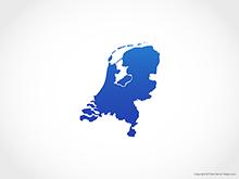 Map of Netherlands - Blue