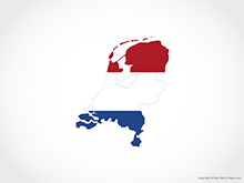 Map of Netherlands - Flag