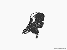 Map of Netherlands - Sketch