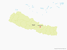 Map of Nepal with Administrative Zones