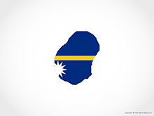 Map of Nauru - Flag