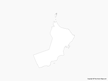 Map of Oman - Outline