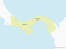 Map of Panama with Provinces