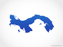 Map of Panama - Blue
