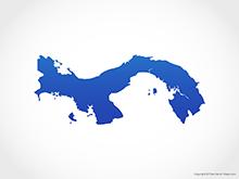 Map of Panama - Blue