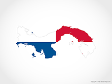 Map of Panama - Flag