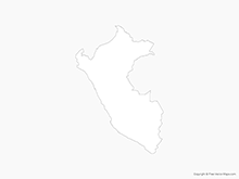Map of Peru - Outline