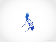 Free Vector Map of Philippines - Blue