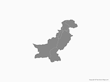 Map of Pakistan with Provinces - Single Color