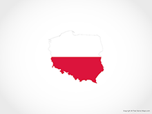 Map of Poland - Flag