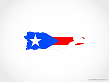 Map of Puerto Rico - Flag