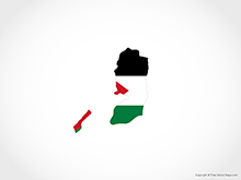 Map of State of Palestine - Flag