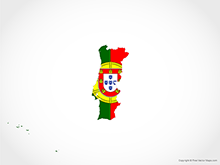 Map of Portugal - Flag
