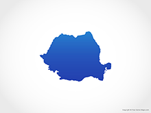 Map of Romania - Blue