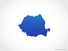 Map of Romania - Blue