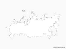 Map of Russia - Outline