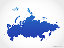 Map of Russia - Blue