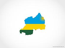 Map of Rwanda - Flag