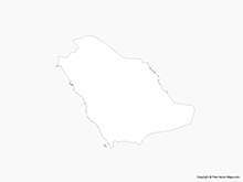 Map of Saudi Arabia - Outline