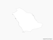 Map of Saudi Arabia - Outline