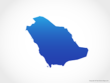 Map of Saudi Arabia - Blue