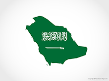 Map of Saudi Arabia - Flag