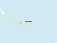 Map of Solomon Islands with Provinces