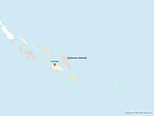 Map of Solomon Islands with Provinces - Multicolor