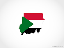 Map of Sudan - Flag