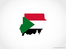 Map of Sudan - Flag
