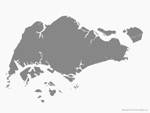Free Vector Map of Singapore - Single Color