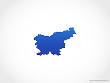 Map of Slovenia - Blue