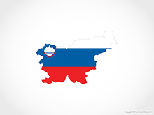 Map of Slovenia - Flag