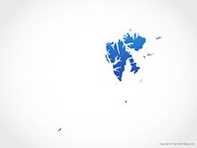 Map of Svalbard and Jan Mayen - Blue