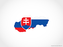 Map of Slovakia - Flag