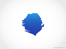 Map of Sierra Leone - Blue
