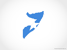 Map of Somalia - Flag