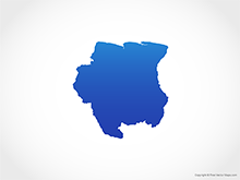 Map of Suriname - Blue